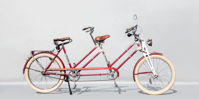 Tandemtours Potsdam – Rixe Brake Bielefeld — Oldtimer-Tandem — ca. 1955